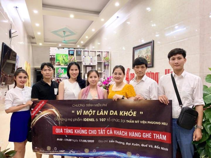 """Chương trình """"Vì 1 làn da khỏe"""" do công ty Blue Sea kết hợp với thẩm mỹ viện Phuong Heli tổ chức."""