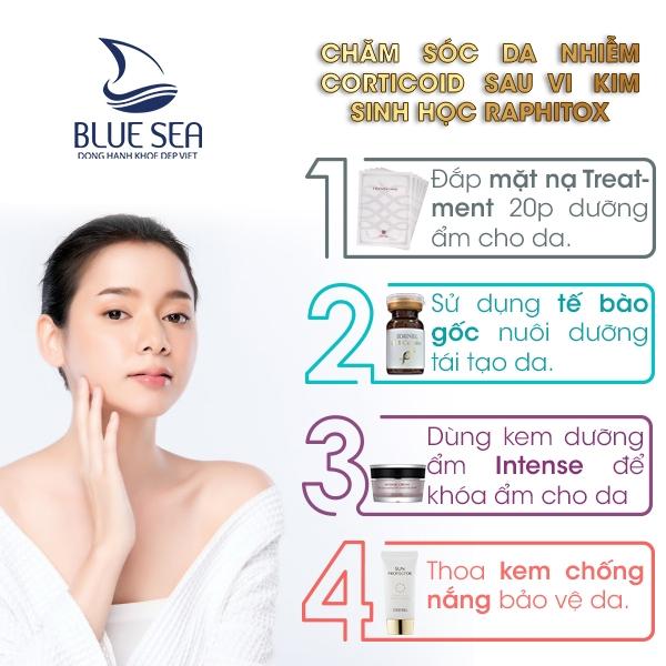 Dưỡng da kết thúc liệu trình chăm sóc da tại nhà.