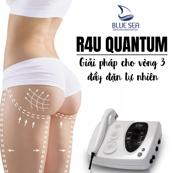 Liệu trình nâng cơ mông không cần phẫu thuật với máy trị liệu điện sinh học R4U Quantum