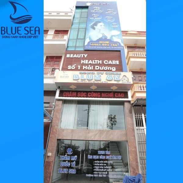 Blue Sea Spa Hải Dương  toạ lạc tại trung tâm thành phố.