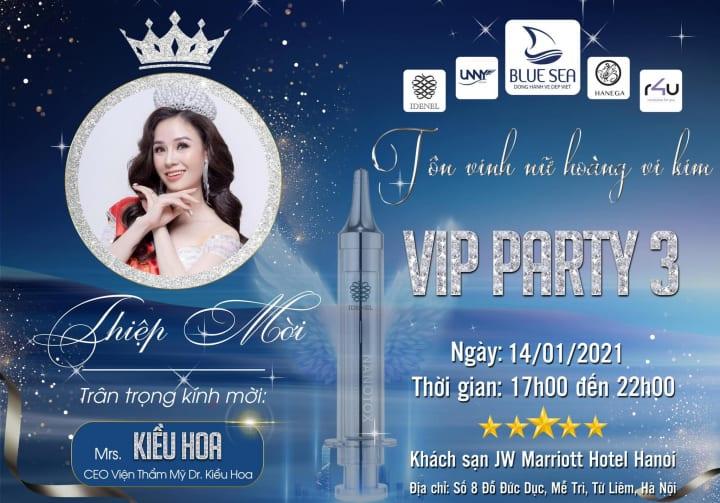 Dr. Kiều Hoa tham gia sự kiện VIP PARTY 3