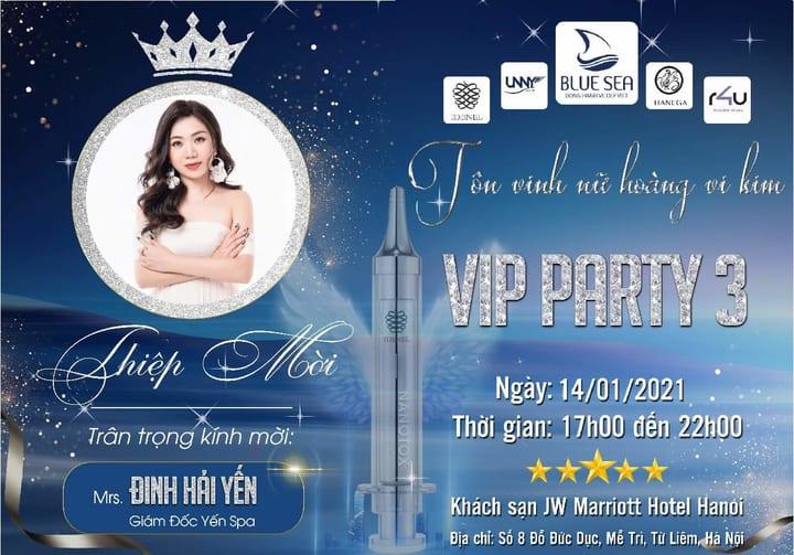 CEO Đinh Hải Yến tham gia sự kiện Vip Party