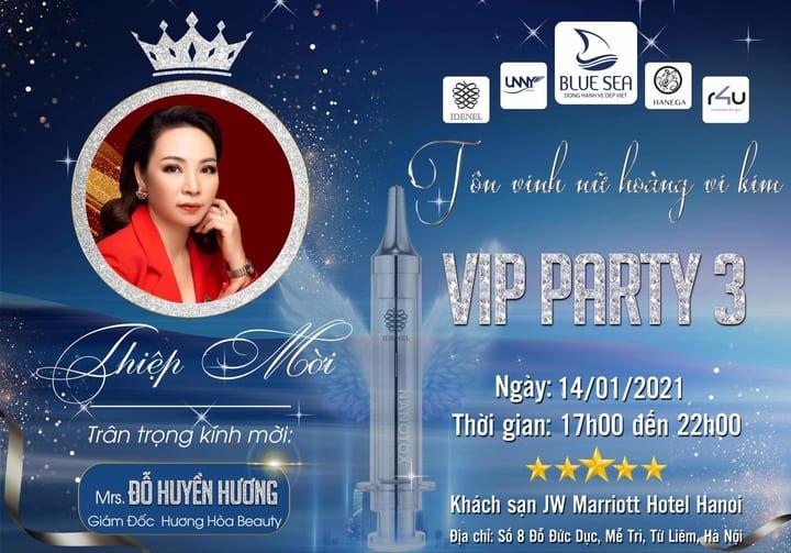 CEO Huyền Hương tham gia VIP PARTY 3